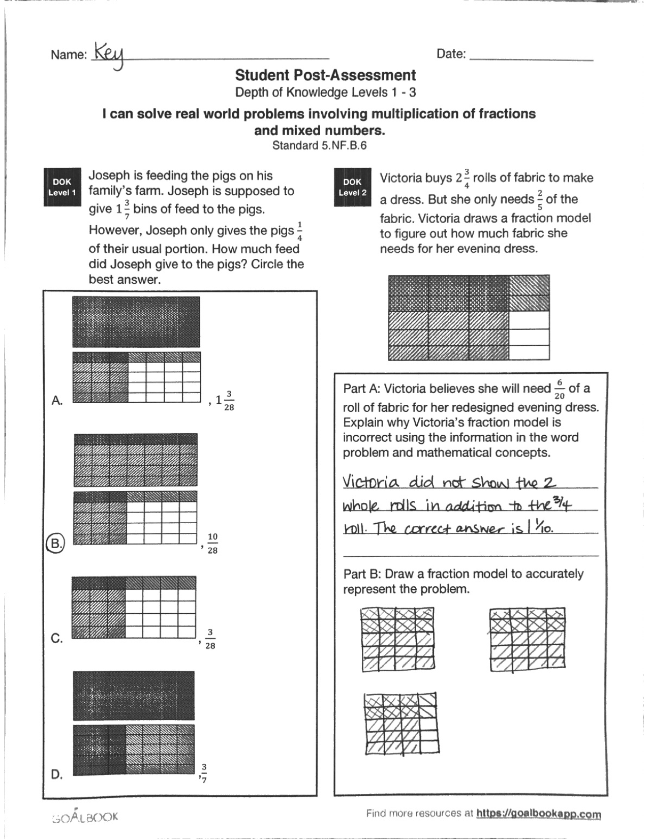 5 Nf 6 Word Problems With Fraction Multiplication