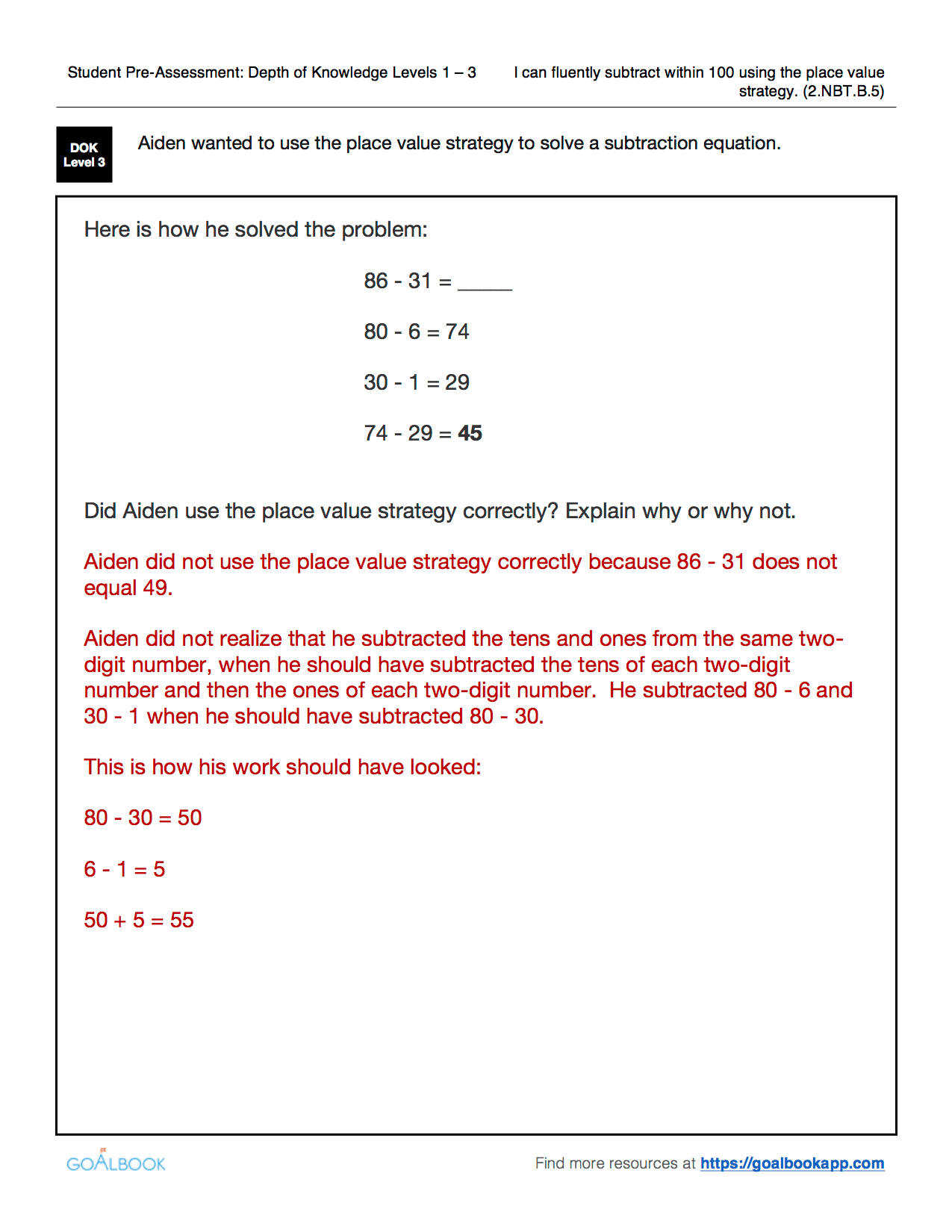 2 Nbt 5 Fluently Add And Subtract Within 100