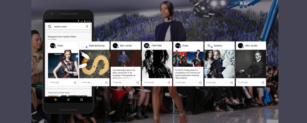 Fashion Week 2016, Google Gets A New Look