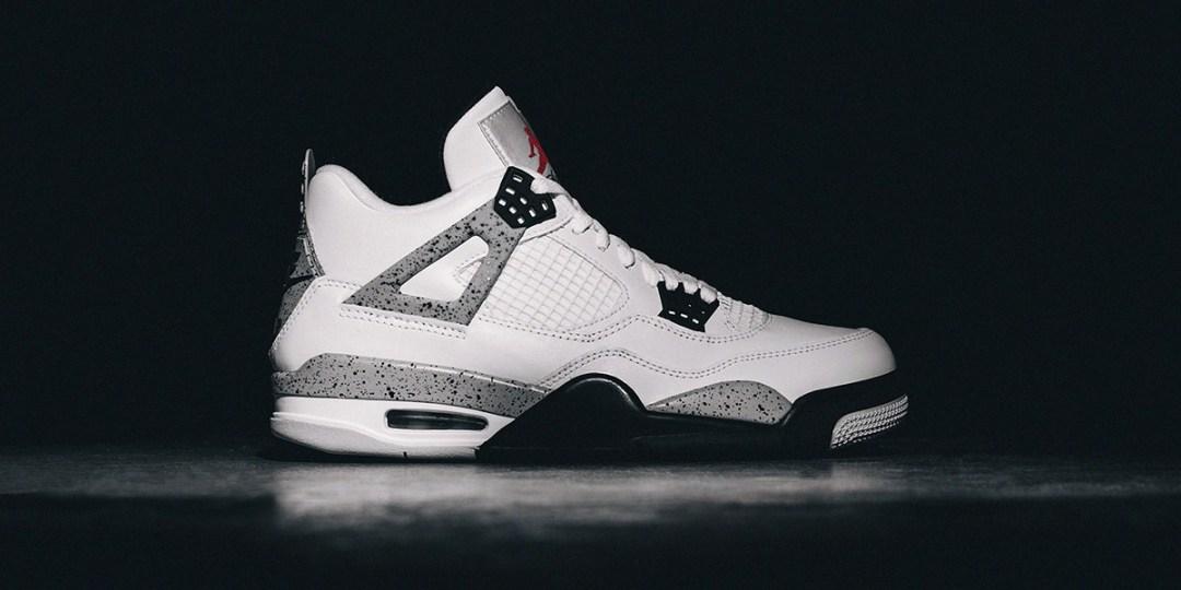 """Sneaker brands : Air Jordan IV Retro """"Cement"""""""