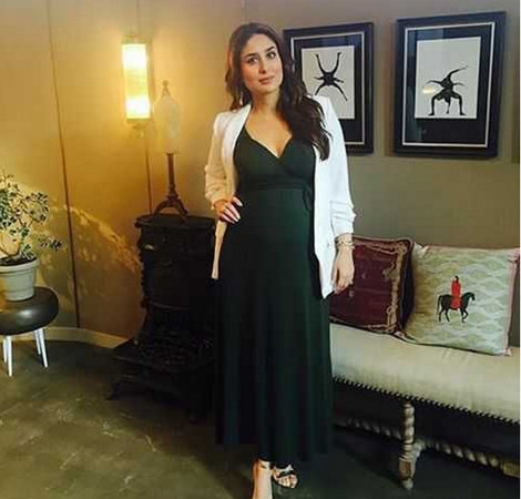 Kareena Kapoor Khan in green empire neckline dress