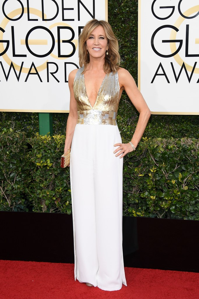 2017 Golden Globes Red Carpet: Felicity Huffman in Edition by Georges Chakra
