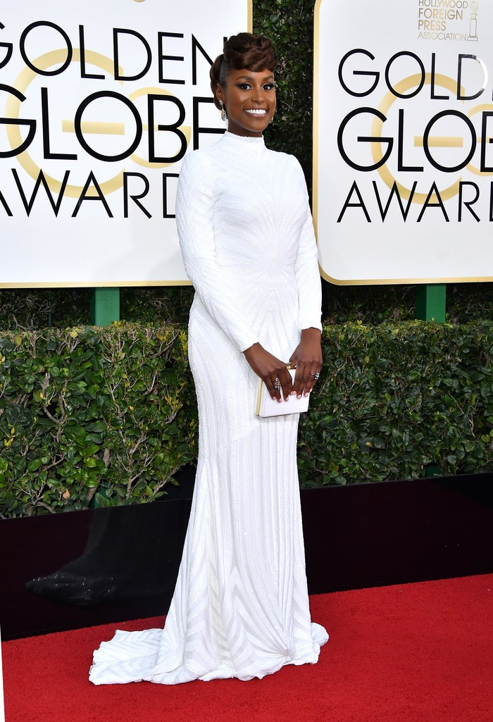 2017 Golden Globes Red Carpet: Issa Rae in Christian Siriano