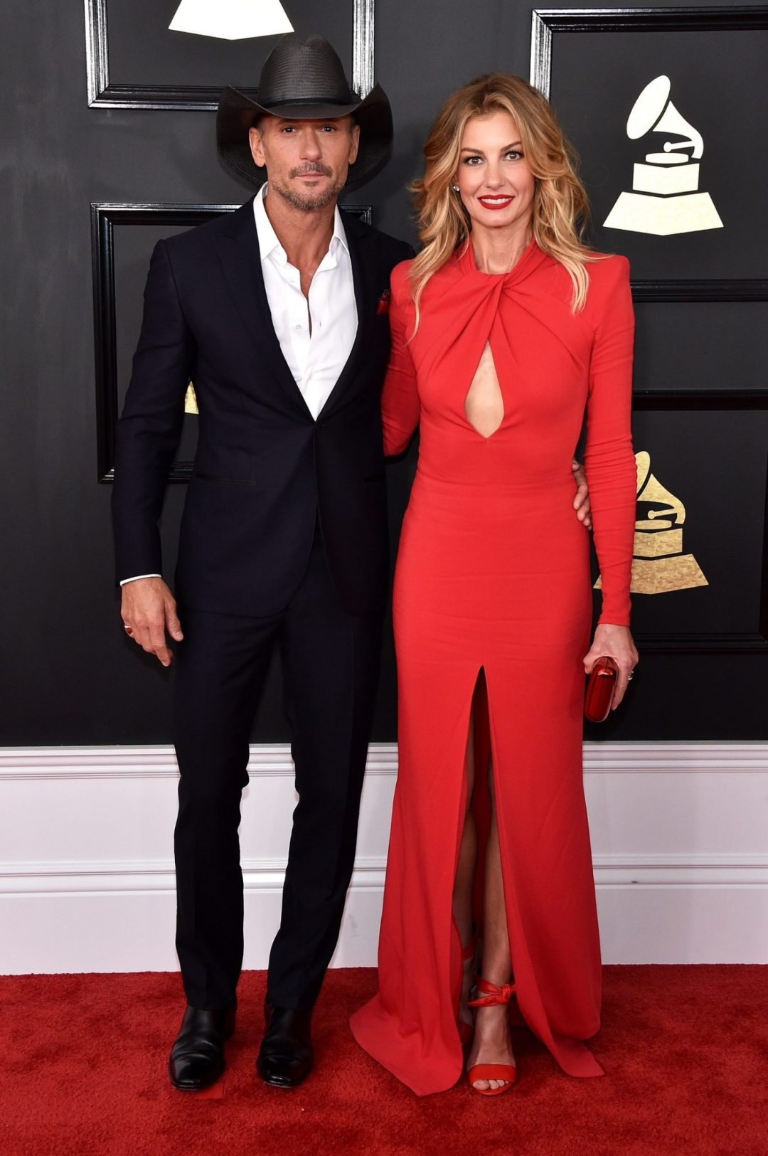 Tim McGraw and Faith Hill - Grammys Red Carpet