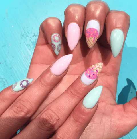 Summer Nail Colors Trend-Ice cream