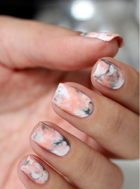 Summer Nail Colors Trend- Marbles
