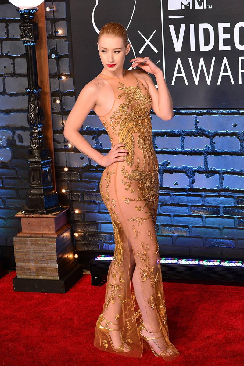 Naked Dress Trend - Iggy Azalea at the 2013 MTV Music Awards