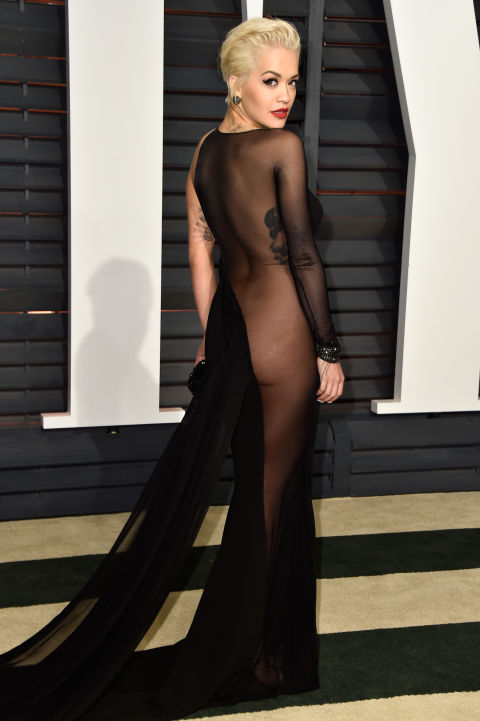Naked Dress Trend - Rita Ora at the 2015 Oscars after party
