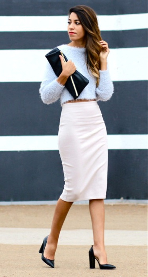 What To Wear To a Job Interview In Fashion-Pencil Skirt