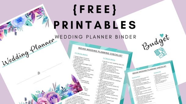 How To Plan A Wedding: Free Printables