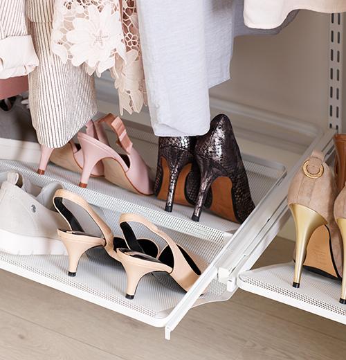 elfa mesh gliding shoe shelf 45cm
