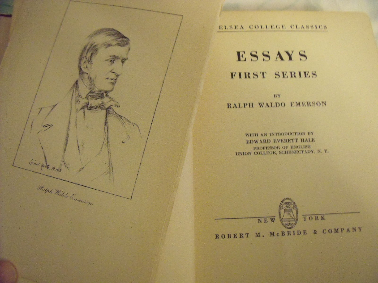 Essays First Series By Emerson Ralph Waldo