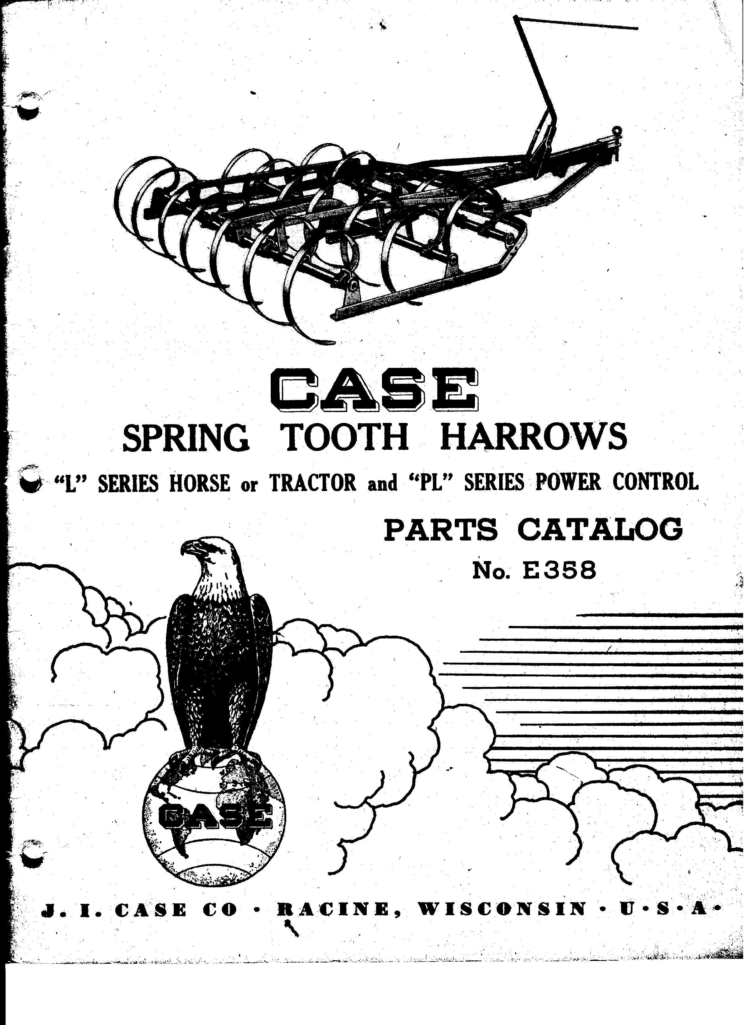 Case Horse Or Tractor Spring Tooth Harrows Original Parts