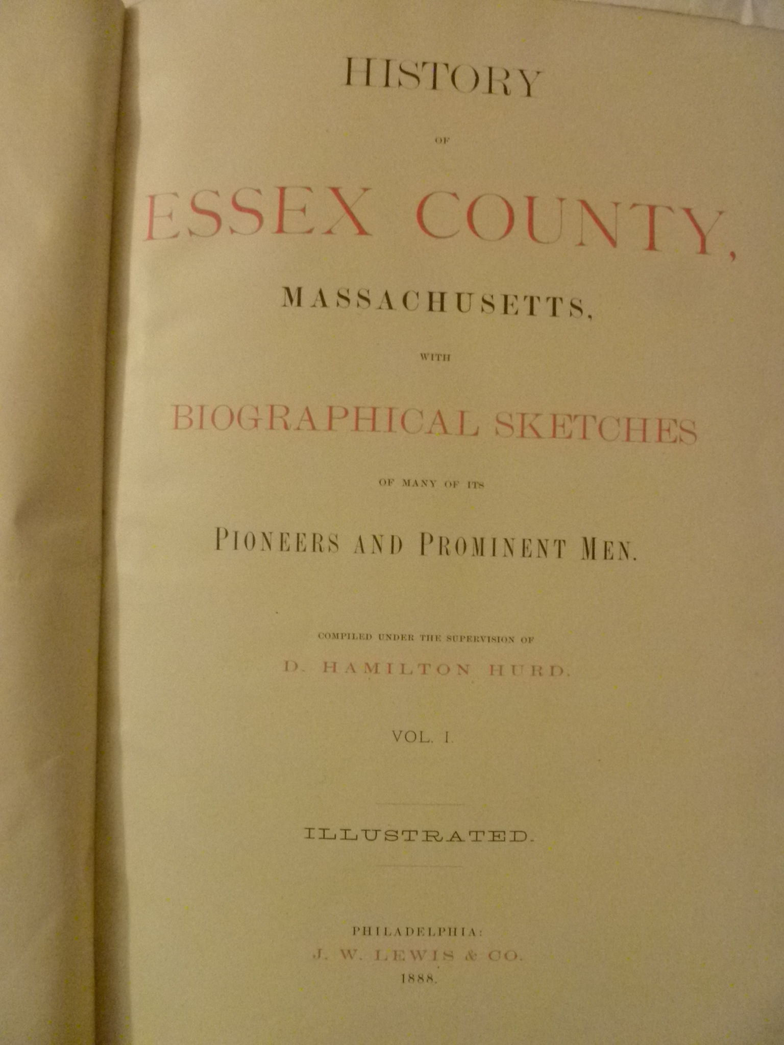 History Of Essex County Massachusetts With Biographical