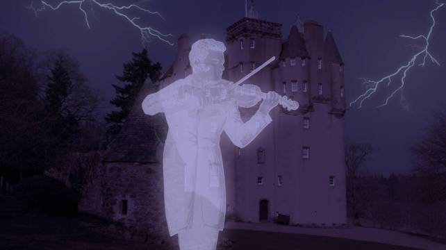 The ghost of a fiddler at Craigievar Castle