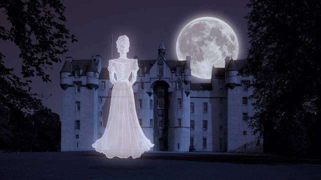 The ghost of Lilias Drummond at Fyvie Castle