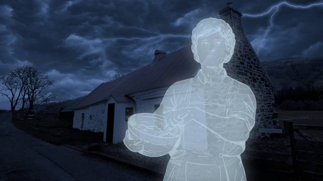 The ghost of Lizzie Robertson at Moirlanich Longhouse