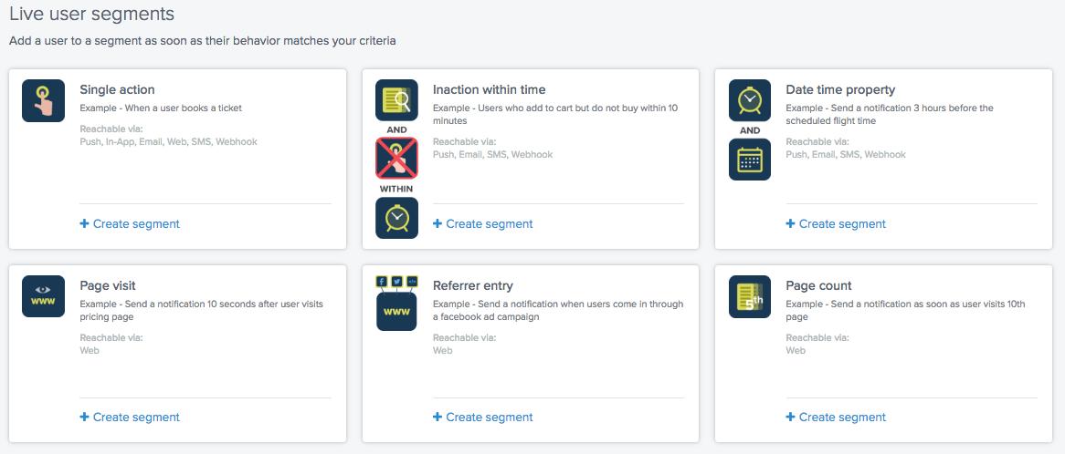 Live User Segments
