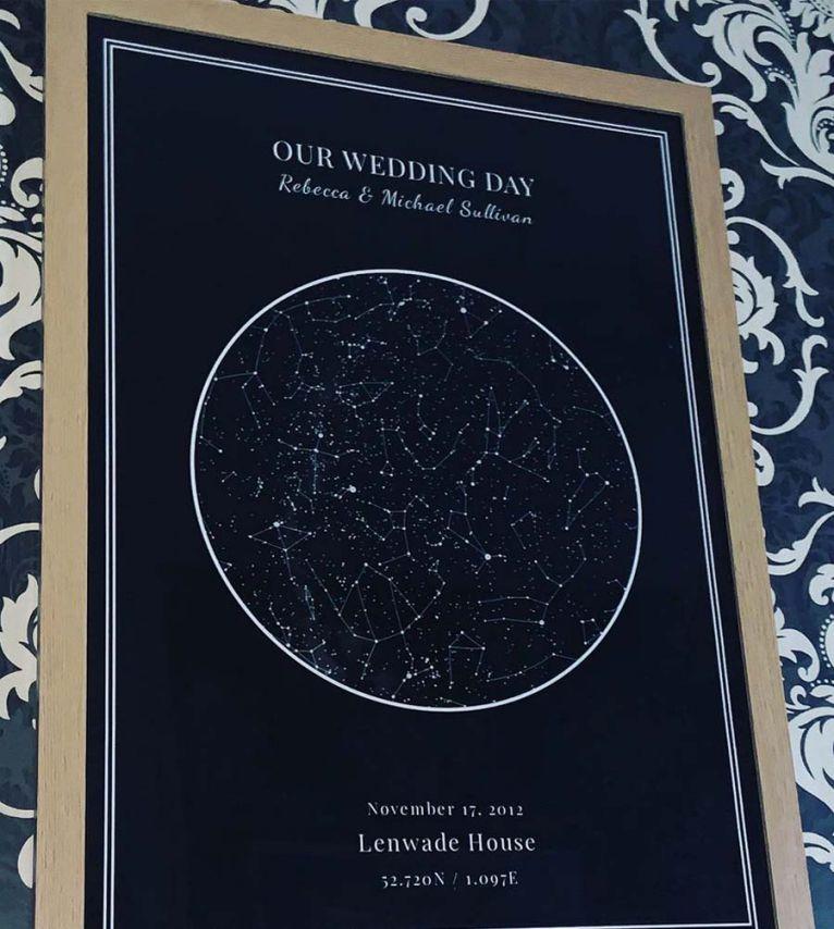 personalised custom star map poster