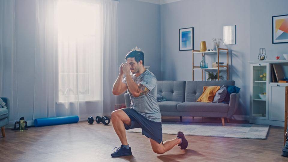 Ilustrasi olahraga di rumah