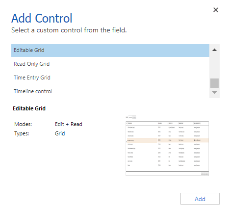 Select the control