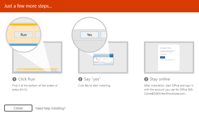 Installing your Office Apps
