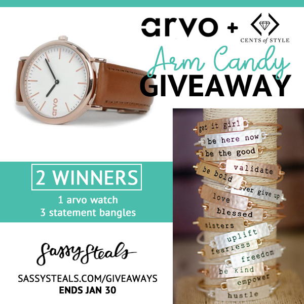 Arvo + Cents of Style Arm Candy Giveaway