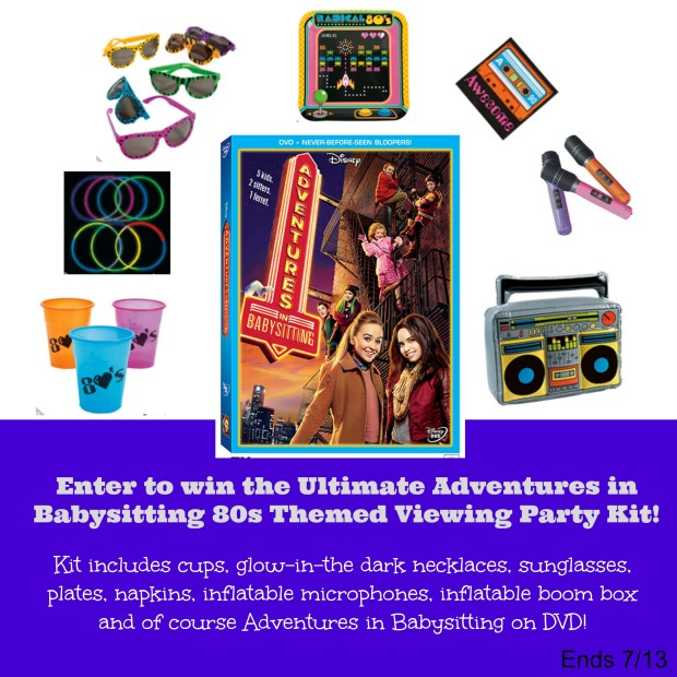 Adventures in Babysitting 80s Themed Viewing Party Kit