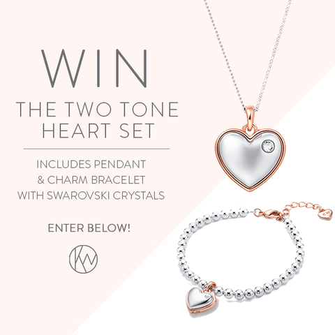 WIN the two tone heart set!