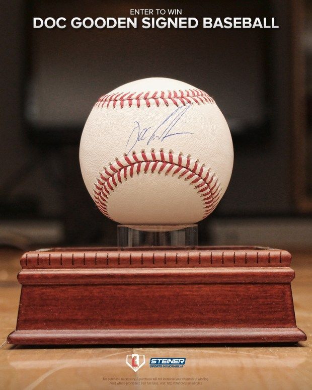 Doc Gooden Signed Baseball Giveaway