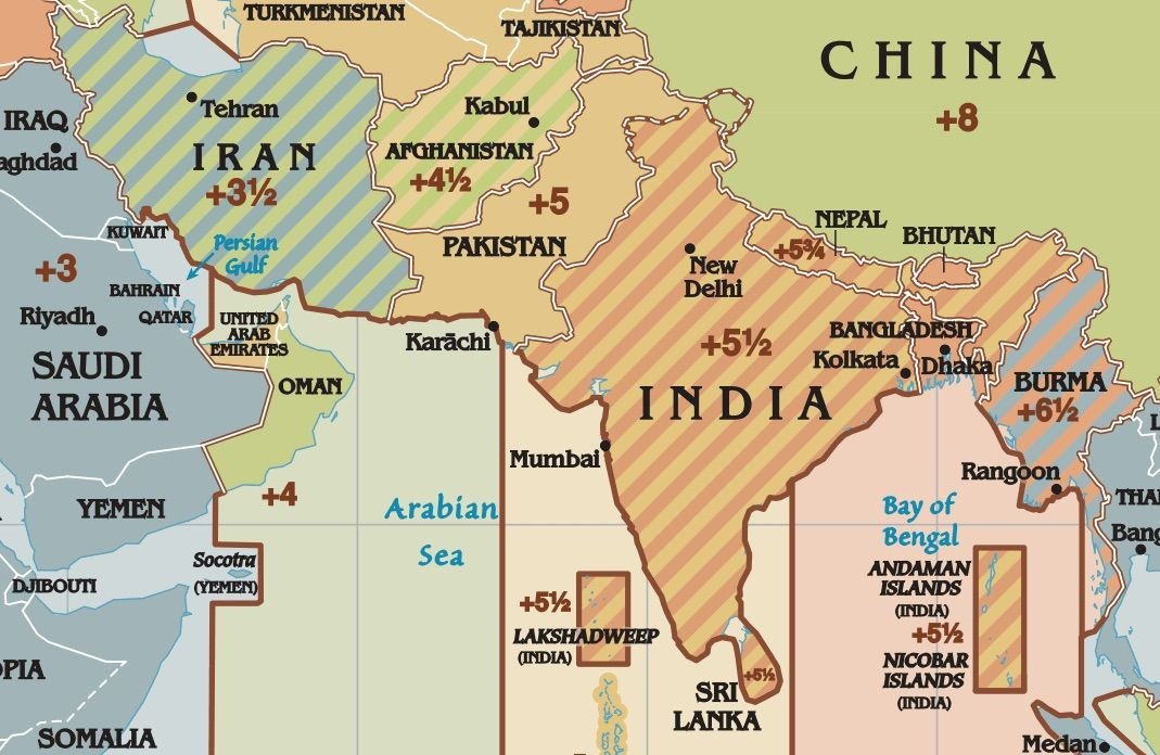 Advertisement asia time zones map Full