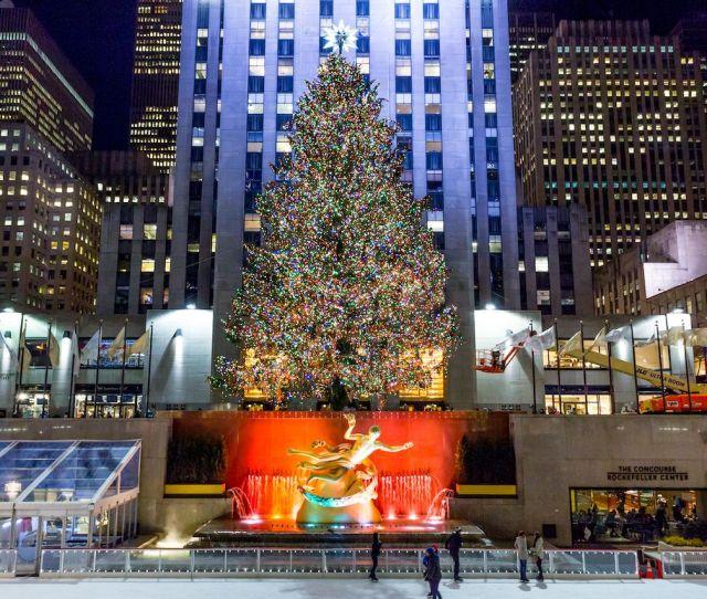 Rockefeller Center Christmas Tree New York City