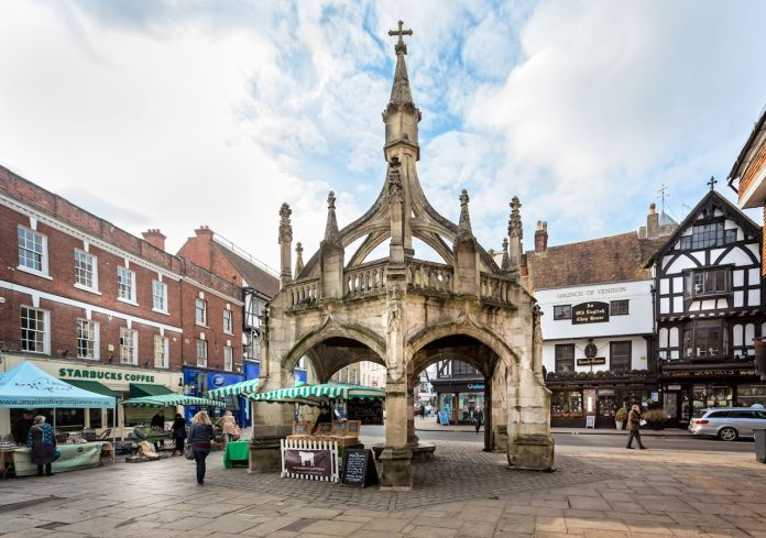 Ancient Medieval Market Cross known as the Cross Poultry in Salisbury