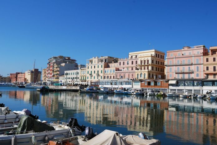 City center of Anzio, Italy