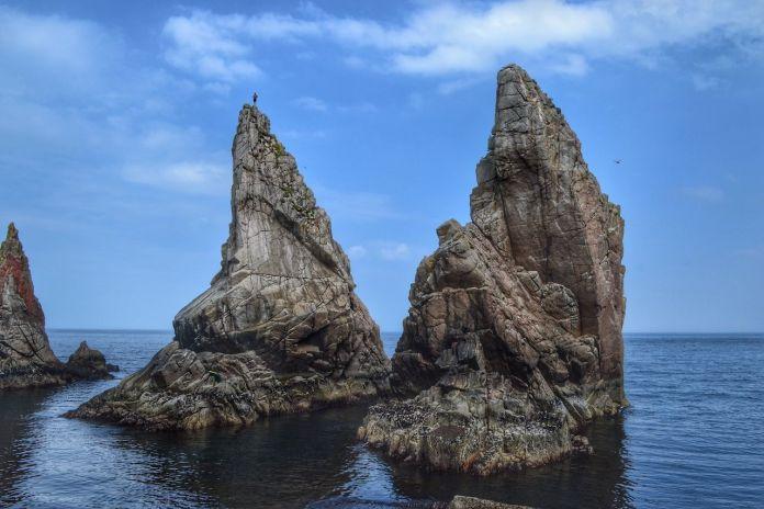 Climb sea stacks in Ireland