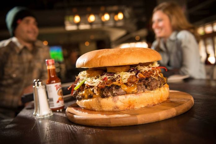Gnar Burger from Rocker at Squaw Valley in California