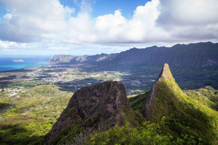 View from olomana trail, Hawaii