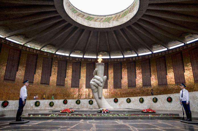 Eternal flame in Volgograd, Russia
