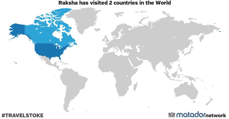 Raksha's Travel Map