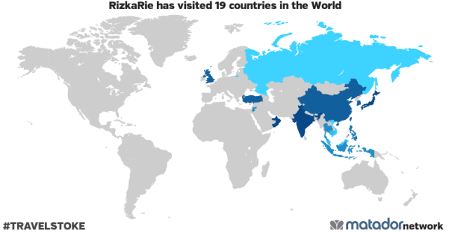 RizkaRie's Travel Map