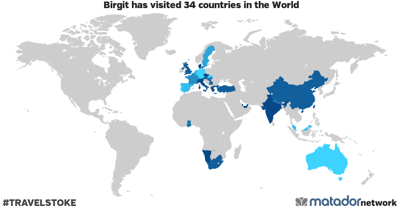 Birgit's Travel Map