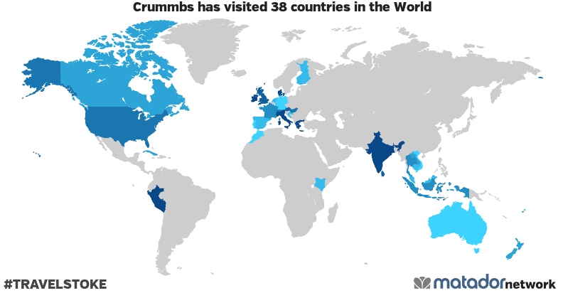 Crummbs's Travel Map