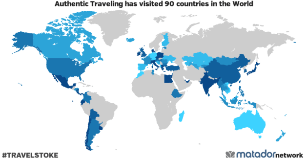 Authentic Traveling's Travel Map