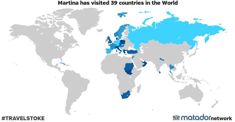 Martina's Travel Map