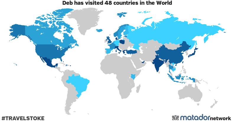 Deb's Travel Map