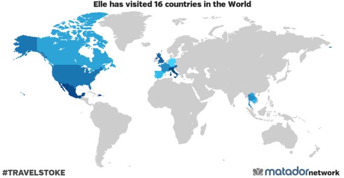 Elle's Travel Map