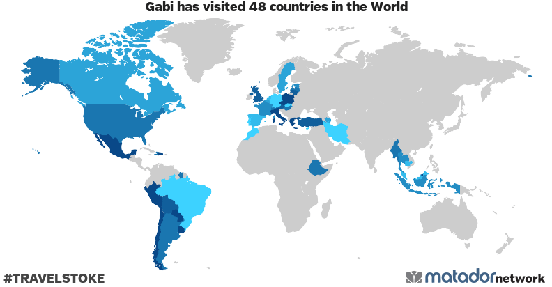 Gabi's Travel Map