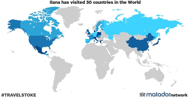 Ilana's Travel Map