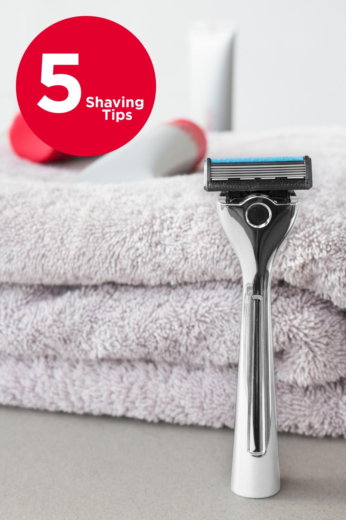 5 shaving tips razor