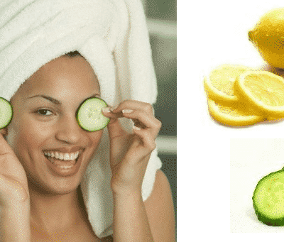 Cucumber & Lemon Juice Mask For Dark Circles